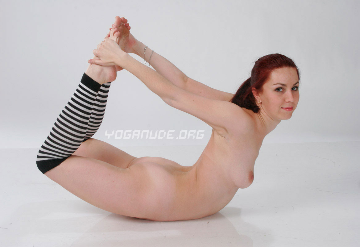Nude yoga teacher