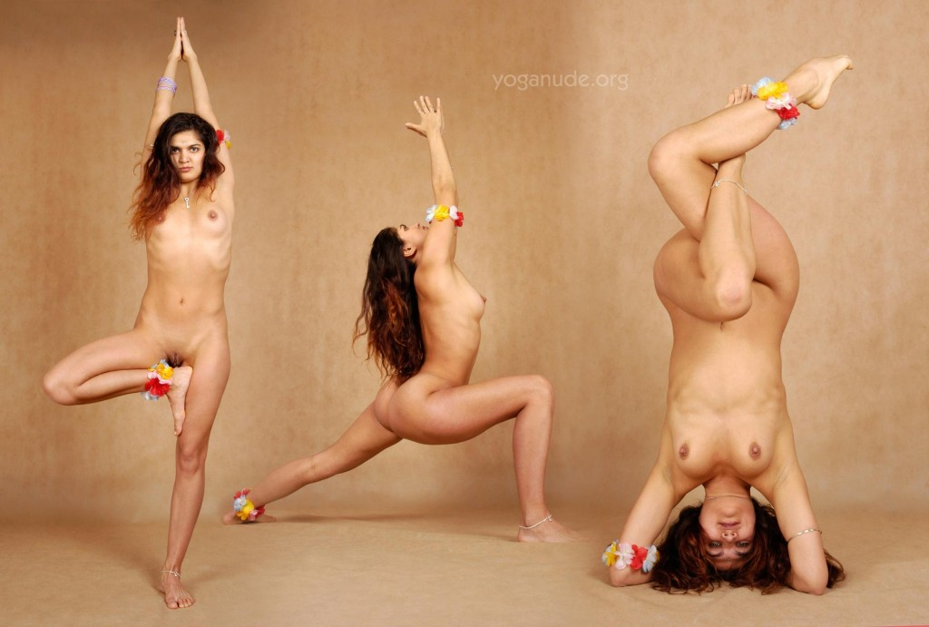 Yoga nude gymnasts pose naked